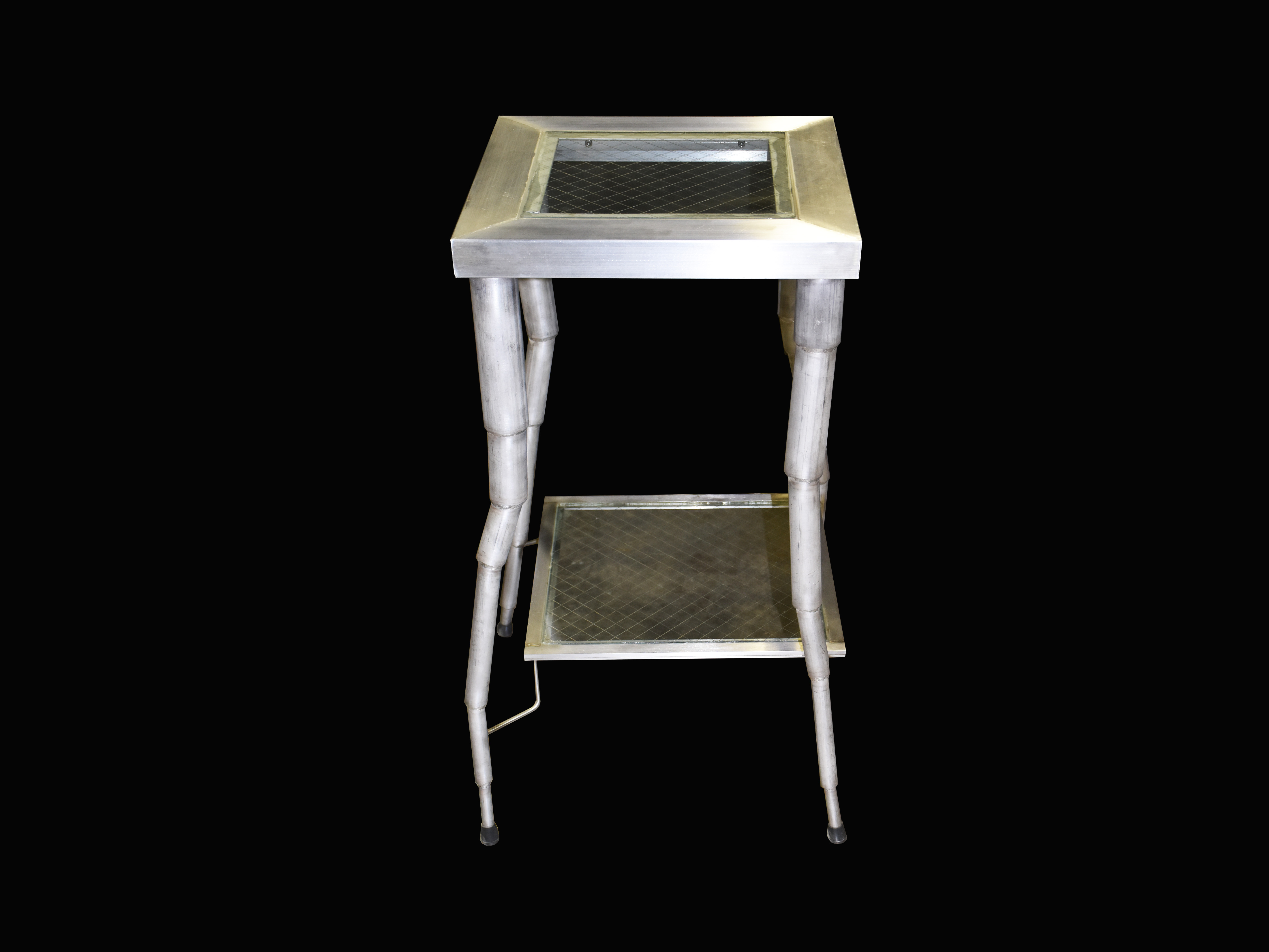 ステンレスフラワースタンド (花台 電話台) stainless steel stand