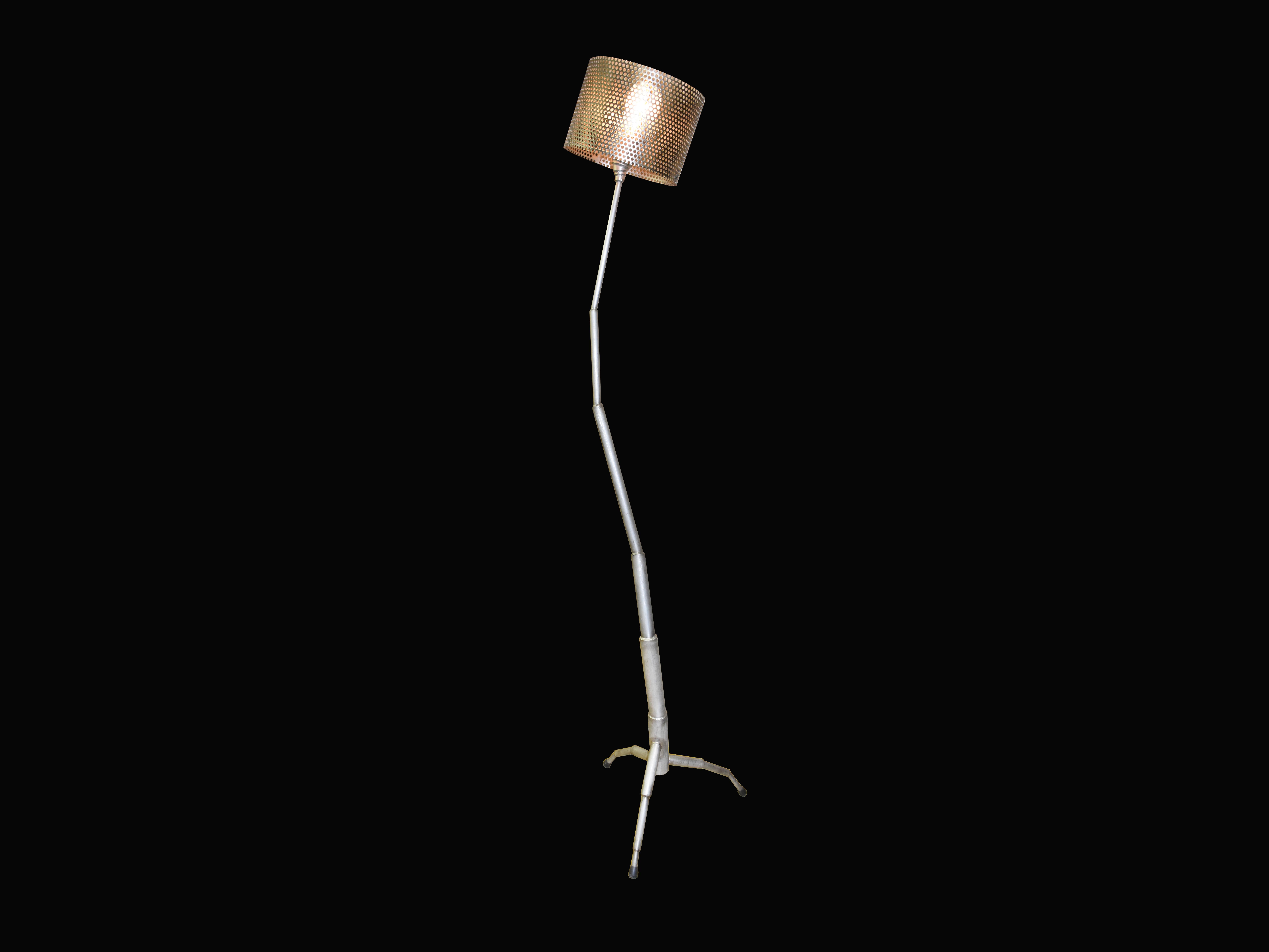 ステンレススタンドライト stainless steel lamp